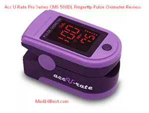 Acc U Rate Pro Series CMS 500DL Fingertip Pulse Oximeter Review