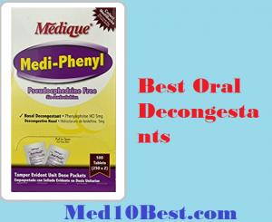 Best Oral Decongestants
